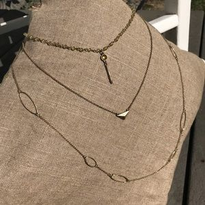 Three Chain Customizable Necklace